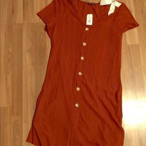 Burnt orange dress NWT